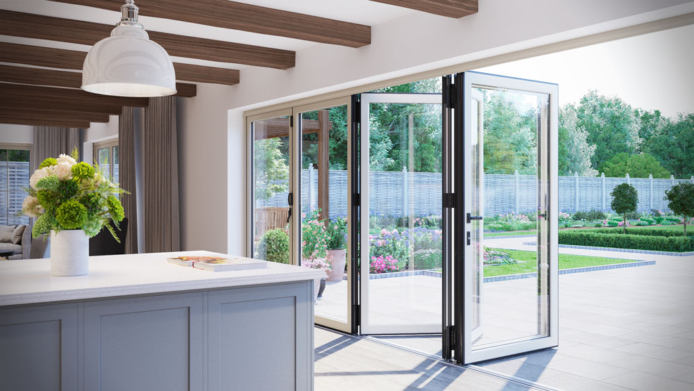 Residential bi fold patio doors brigg north lincolnshire for Glass folding patio doors